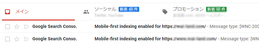 mobile-first indexing enabled for